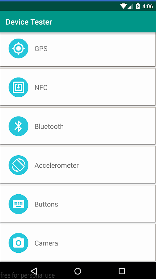Android Device Tester- screenshot
