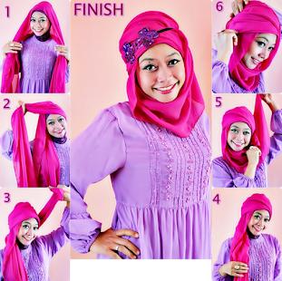 tutorial hijab pesta 2017 - náhled