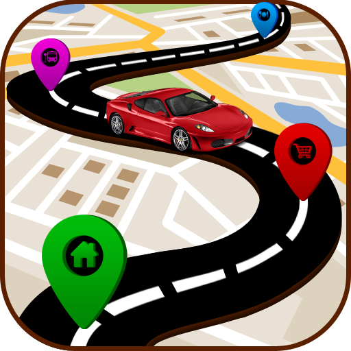 GPS Route Finder - GPS Maps Navigation Directions Icon