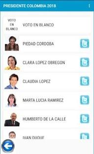 Encuesta Presidente COLOMBIA 2018 - náhled