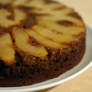 Gingerbread Pear Upside-Down Cake