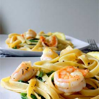 Lemon Shrimp and Spinach Fettuccine
