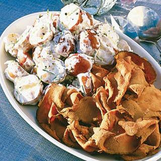 Horseradish Potato Salad with Deli Roast Beef.