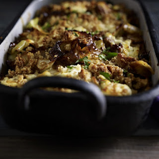 Beef, Cabbage and Feta Gratin.