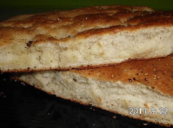 Basil, Parm, And Pepper Foccacia Bread
