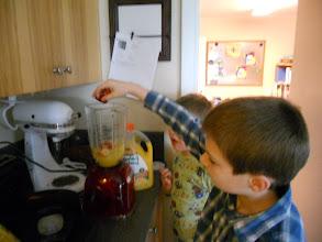 Photo: adding the strawberries