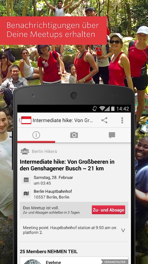 Meetup – Finde Leute wie Du! – Screenshot