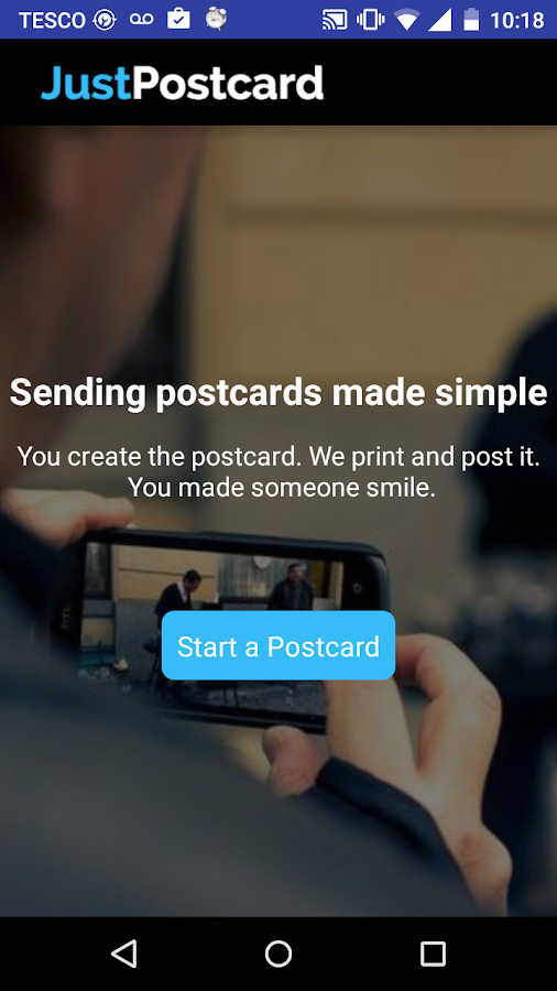 JustPostcard - στιγμιότυπο οθόνης