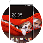 Cute baby puppy Theme:Dog Animal Live Wallpaper Icon