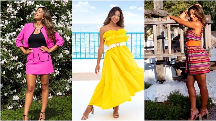 Tres modelos de la colección Alegría: Almería, Isleta y Mojácar.