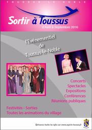 Sortir à Toussus d'avril à septembre 2016