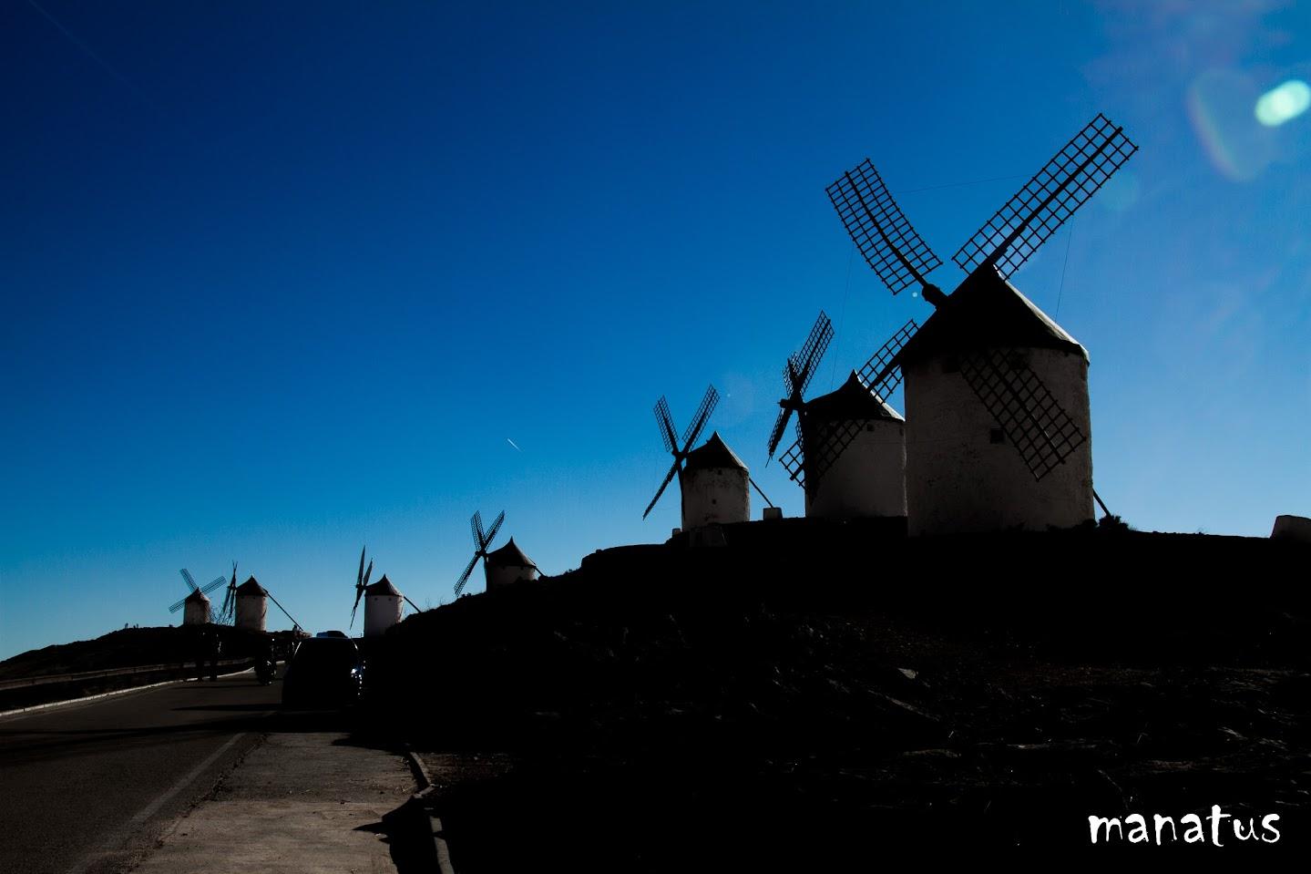 manatus molinos de viento contraluz