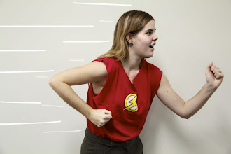 Photo: Erin's shirt supports Flash...