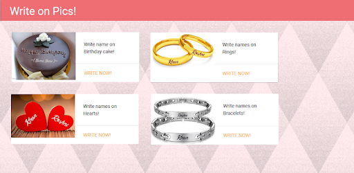 Write Names On Picture Ring Bracelet Sand Cake Apps On Google Play