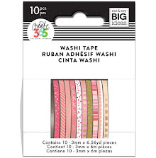 Me & My Big Ideas Happy Planner Skinny Washi Tape - Pink Hues