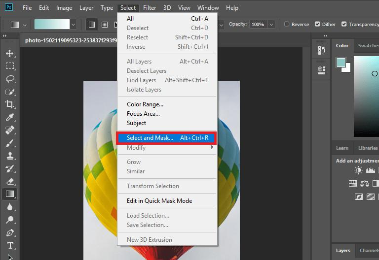 Changer Photo Background in Photoshop - Apply Mask