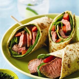 Chimichurri Steak Wraps.