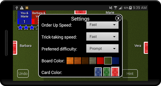 Euchre Card Classic 1.1 screenshots 7
