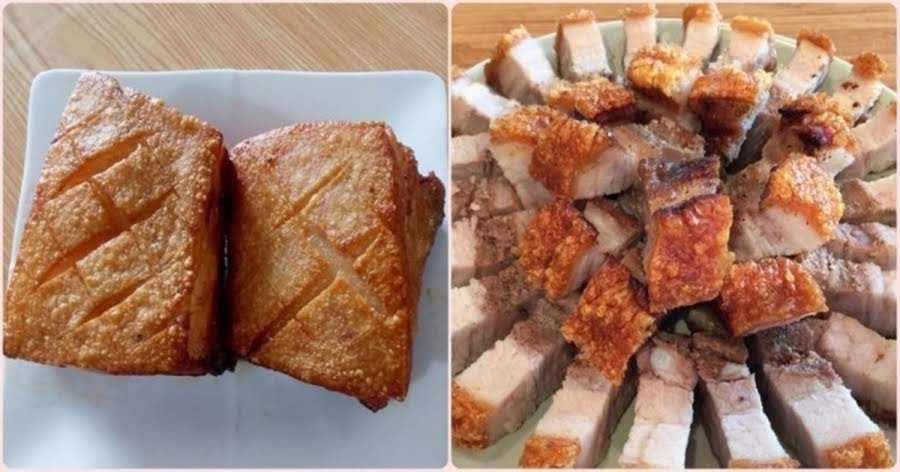 Bí quyết làm heo quay giòn bì nhưng thịt không hề bị khô chỉ bằng chảo rán