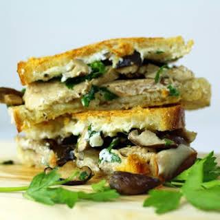 The Turkey Tetrazzini Grilled Cheese Sandwich.