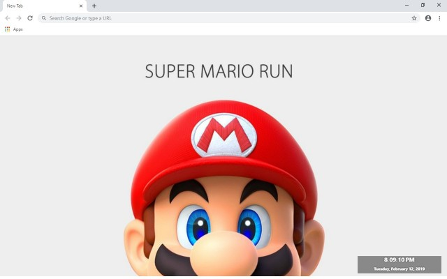 Super Mario Run New Tab Theme