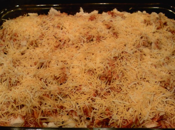 Sprinkle with the remaining cheese; Bake for an additional 20-25 min.