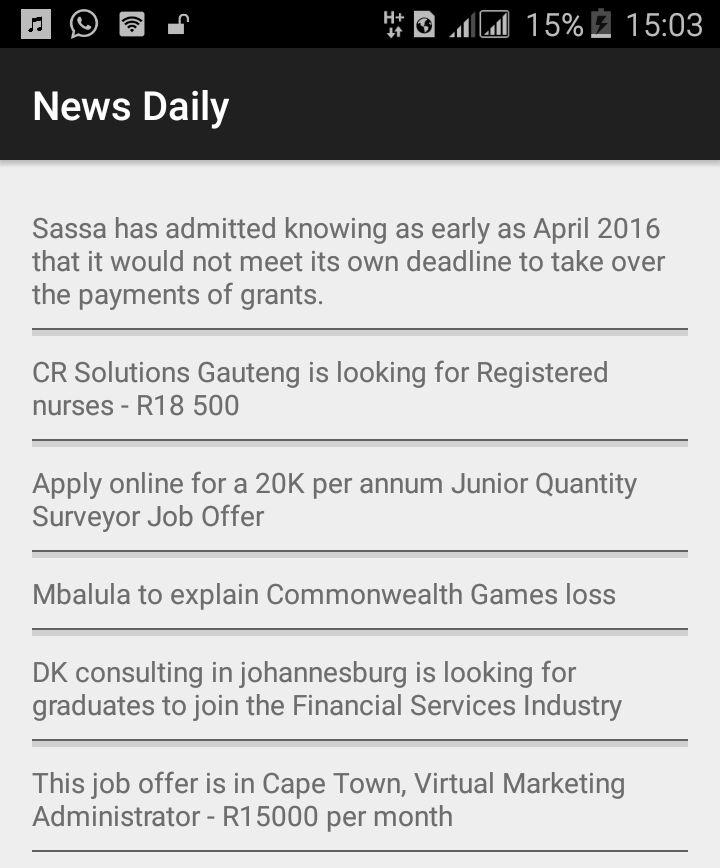 NewsDaily South Africa- screenshot