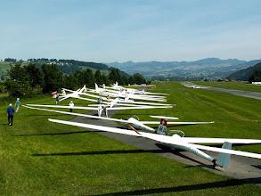Photo: Glider line-up at Schänis Airfield (LSZX)