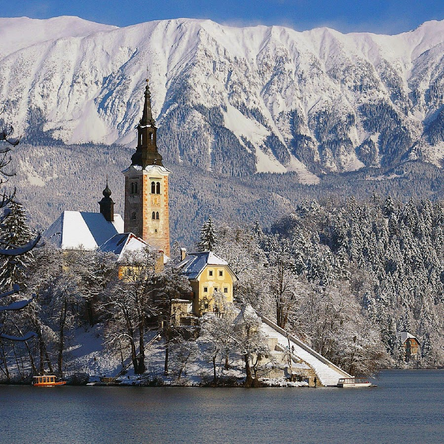 Patroness by Anuška Vončina - Buildings & Architecture Places of Worship ( winter, mountain, church, lake, landscape,  )