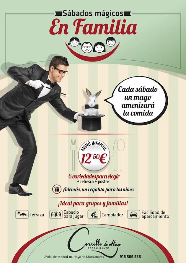 cartel sábados mágicos en familia Hoyo de Manzanares