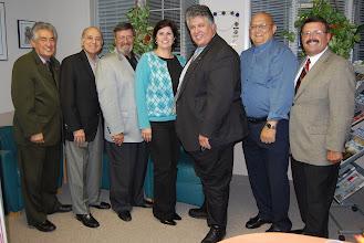 Photo: Past and Present UNICO National Presidents ... Renato Birabin, Frank Cannato, Sal Mangano, Kathy SStrozza. Andre' DiMinio, Joe Agresti, John Alati