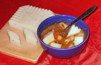 Photo: Zupa grzybowa z kostkami z kaszy manny 28