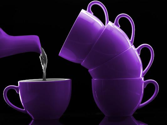 servizio da tè viola di Canguro