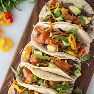 Slow Cooker Beef Fajita Tacos