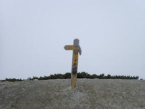 針ノ木岳山頂(周りはガス・・・)