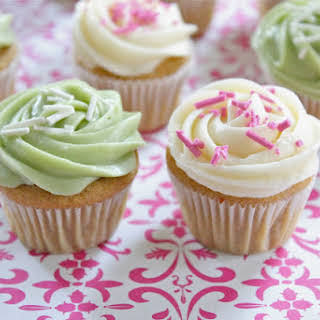 Healthier Mini Vanilla Cupcakes.