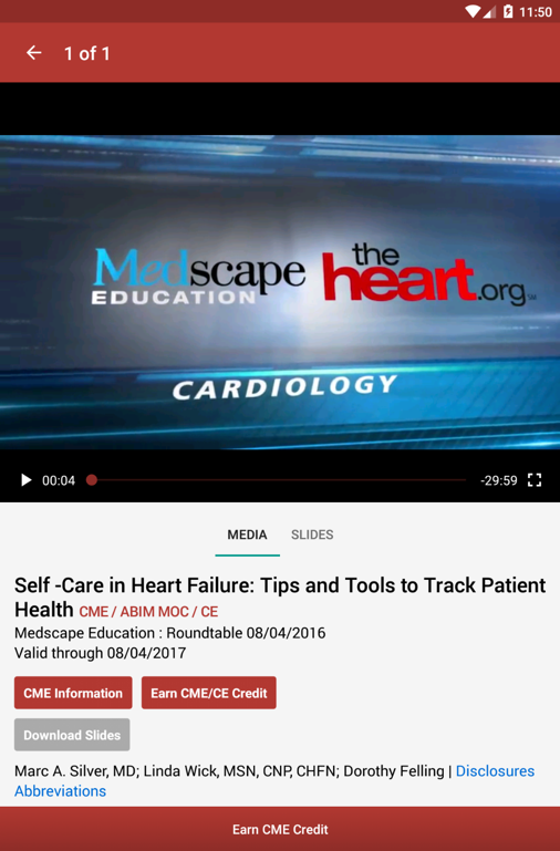 Medscape CME & Education- screenshot