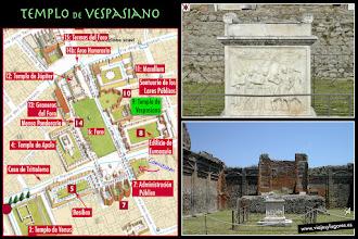 Photo: 13: En el <b>Templo de Vespasiano</b> se ha encontrado este templete, consagrado al culto del Genio del emperador. El altar es de mármol blanco y en una de las caras hay una escena del sacrificio de un toro, típico del culto imperial.