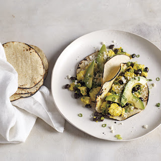 Tofu Scramble with Cotija Cheese and Tortillas