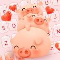Cute Pink Pig keyboard icon