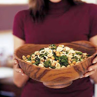 Orecchiette with Broccoli Rabe and Fried Chickpeas