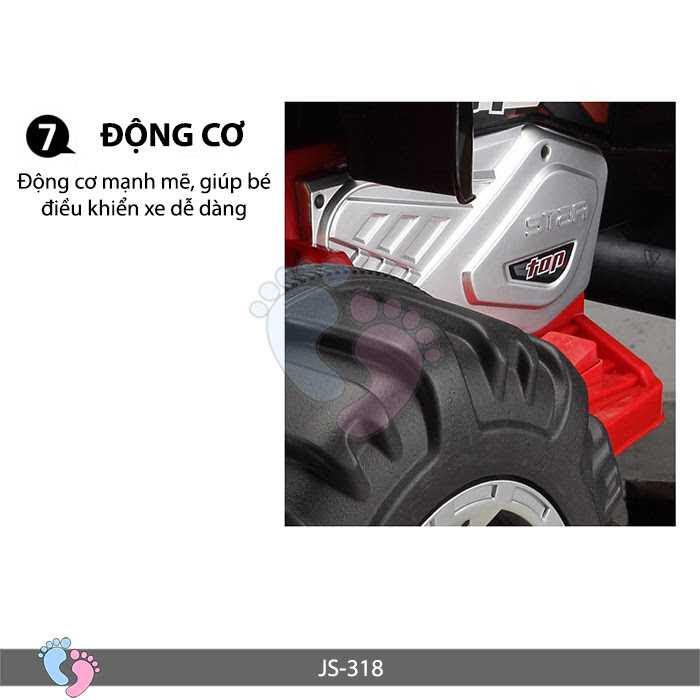 Xe điện 4 bánh cho bé JS-318 (Cỡ lớn)