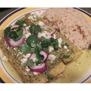 Spinach Chicken Enchiladas