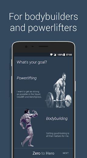 Zero to Hero: The Workout App screenshot 1