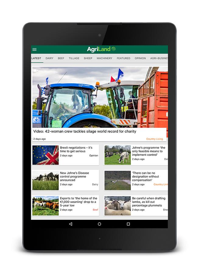 Agriland.ie News- screenshot