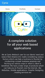 Cynix Webtech- screenshot thumbnail