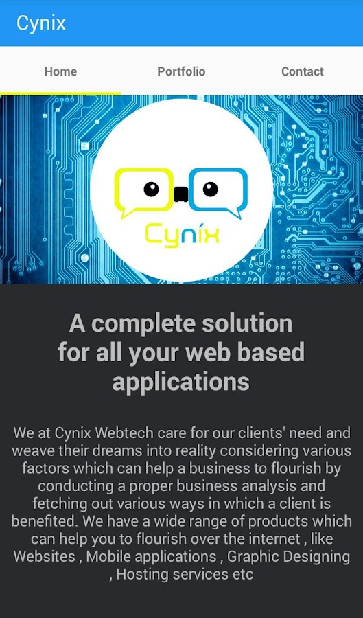 Cynix Webtech- screenshot