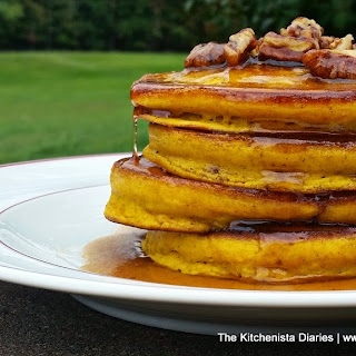 Buttermilk Pumpkin Pancakes & Pecan Spiced Maple Syrup