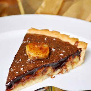 Dark Chocolate & Banana Tart