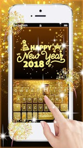 Gold 2018 New Year Keyboard Theme 1.0 Android APK Mod 1